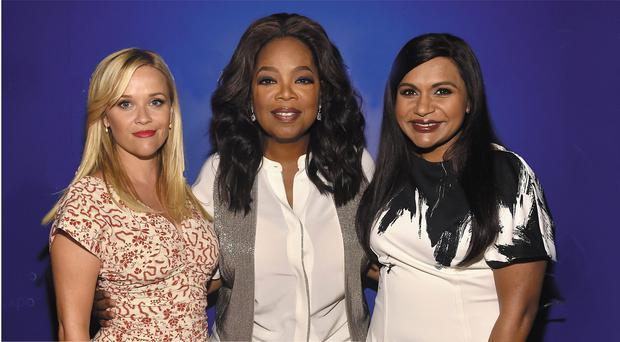 Power players: Reese Witherspoon, Oprah Winfrey and Mindy Kaling