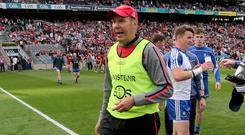 Under fire: Down boss Eamonn Burns is feeling the heat ahead of his team's clash with Tipperary
