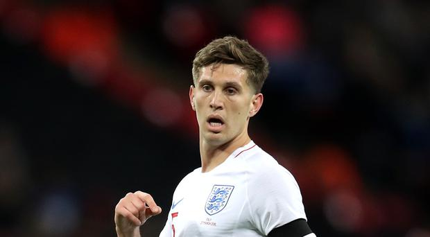 Manchester City's John Stones suffered a head injury on England duty