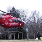 The NI Air Ambulance at the Castlerock Road in Coleraine on Saturday evening