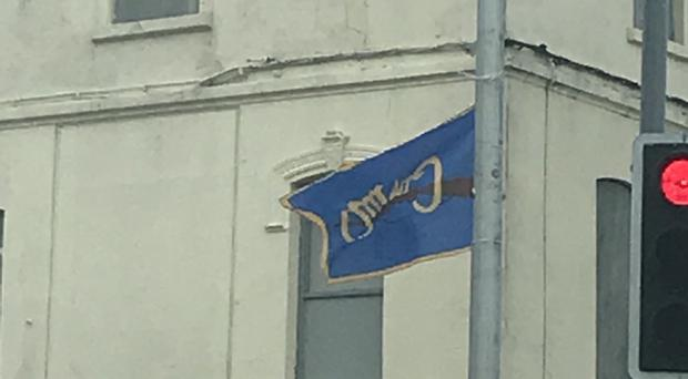 The flag in Newcastle, Co Down.