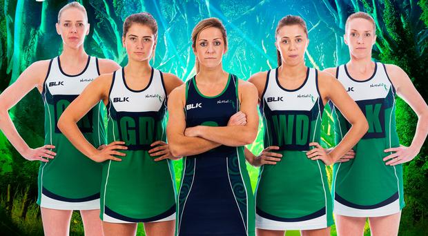 Captain marvel: Northern Ireland netball skipper Caroline O'Hanlon (centre) with some of her team-mates ahead of the Games