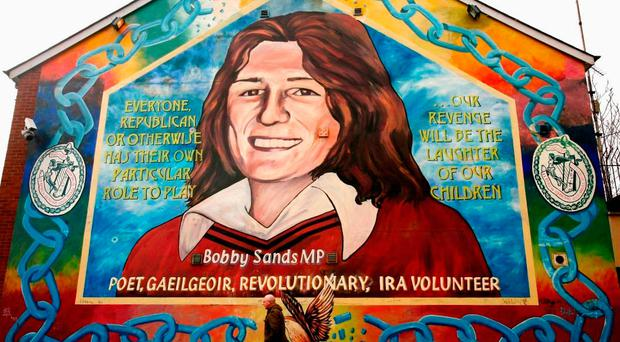 The Bobby Sands mural on the Falls Road