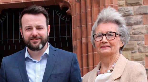 SDLP leader Colum Eastwood and Brid Rodgers
