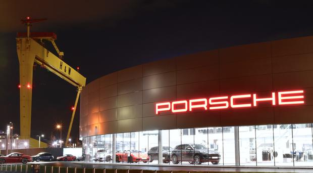 Porsche Centre Belfast's Titanic Quarter showroom