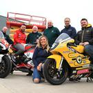 Revved up: Launching the KDM Hire Cookstown 100 are Daniel Mettam from New Zealand, who will make his debut at the Co Tyrone races this year, and William and Gary Dunlop. Also included are KDM Hire's Rebecca Carson and Alan Gillis alongside Cookstown Club's John Dillon, deputy clerk of the course Kenny Loughrin and Norman Crooks