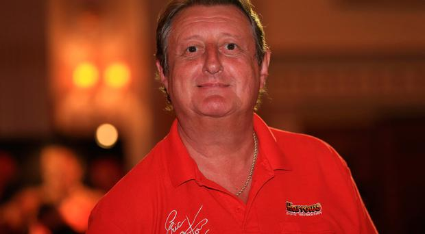FILE - APRIL 5, 2018: British darts player Eric Bristow has died at the age of 60. LONDON, ENGLAND - MAY 07: Eric Bristow, five-time world darts champion, is pictured during the Pound 4 Pound Charity fundraiser for Fight4change on May 7, 2014 in London, England. (Photo by Andrew Redington/Getty Images)