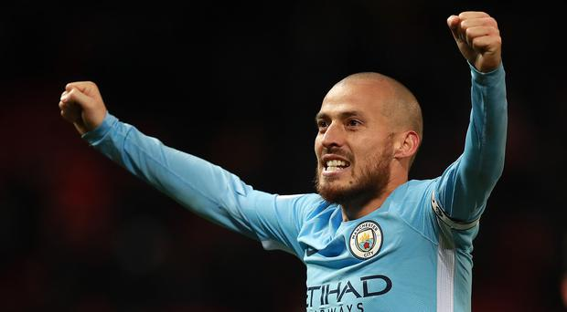 David Silva scored when Manchester City beat United in December