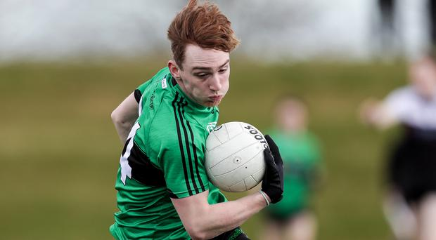 Big threat: Full-forward Tiarnan Mackle can prove the ace in Holy Trinity pack