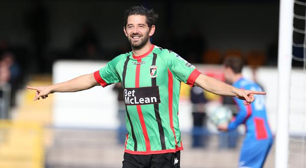 Bright future: Curtis Allen is keen for Glentoran to follow in the footsteps of Coleraine and bring in hungry, young players who want to impress while giving their manager time to shine