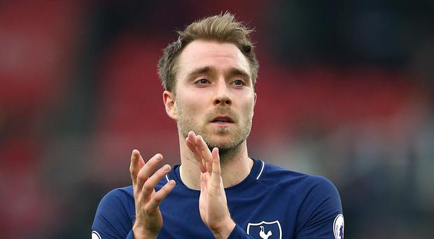 Christian Eriksen has scored five goals in three games (Nigel French/PA)