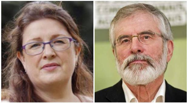 Alliance MLA Kellie Armstrong has criticised Gerry Adams comments on violence.
