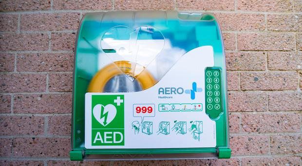 A defibrillator can be used to help someone with heart trouble in an emergency. (Photo by Kevin Scott / Belfast Telegraph)