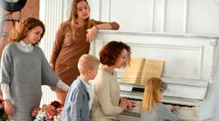 Musical memories: modern families rarely gather around pianos for a sing-song