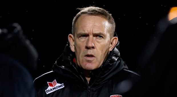 Looking up: Kenny Shiels is happy with Derry's trajectory
