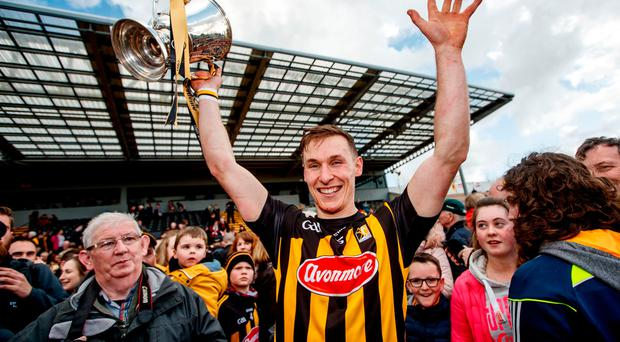 Just champion: Kilkenny's captain Cillian Buckley celebrates with the trophy