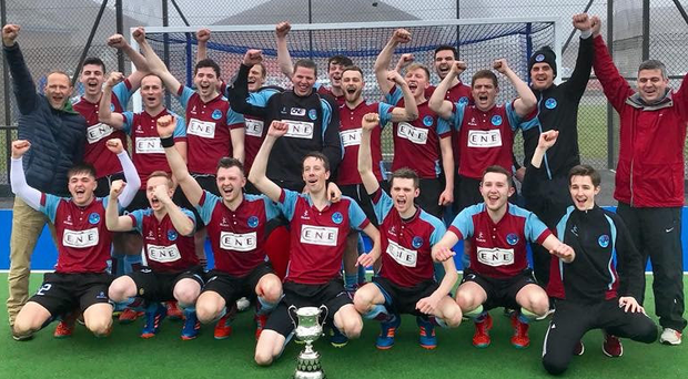 Top men: Kilkeel celebrate their title win but have opted out of the play-offs