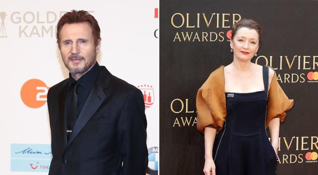 Pictured: Liam Neeson and Lesley Manville