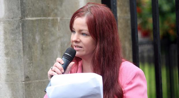 Independent councillor Jolene Bunting, who is associated with Britain First and has previously spoken at a rally in Belfast organised by the group, defended the distribution of the leaflets