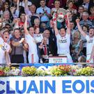 We've done it: Tyrone celebrate their Ulster Championship success last year