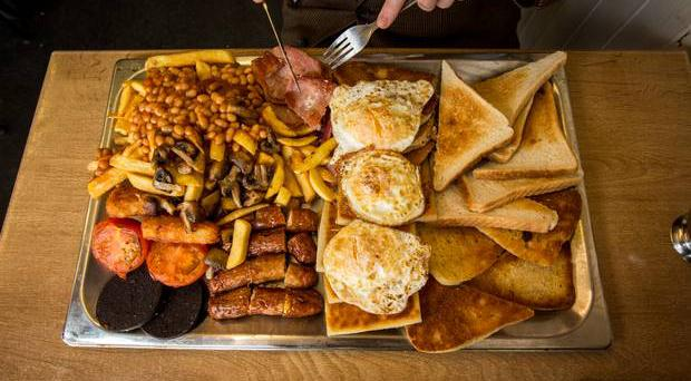 34-piece fry at the Newton cafe on the Newtownards Road in Belfast. Picture: Mark McCormick