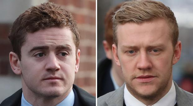 Jackson and Olding were acquitted of rape after a marathon trial in Belfast (Niall Carson)