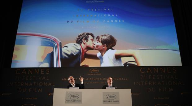 The presentation of the 71st Cannes Film Festival in Paris (Francois Mori/AP)