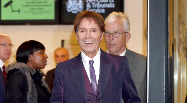 Sir Cliff Richard leaves the Rolls Building in London (Yui Mok/PA)