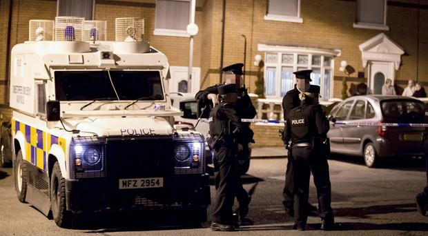 Pictured is Police at the scene of a shooting incident in the Ardmonagh Parade area of west Belfast on April 12th 2018 (Photo by Kevin Scott / Belfast Telegraph)
