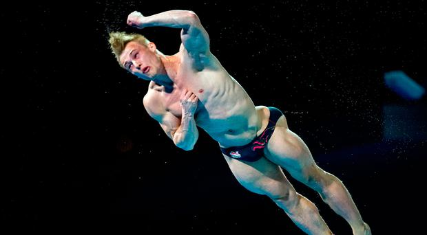 Flipping great: Jack Laugher in action