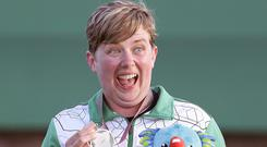 Kirsty Barr can't hide her delight at landing a Commonwealth Games medal.