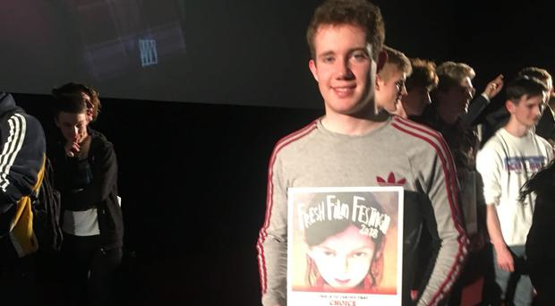 Pictured: John Farrelly is named Ireland's Young Filmmaker of the Year.