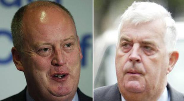 Chief Constable George Hamilton and Lord Kilclooney clashed on Twitter.