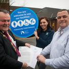 Mayor of Derry City and Strabane District Council, Maoliosa McHugh launches the 'Community Toilet Scheme' at the Diamond Centre, Claudy. Pic: Jim McCafferty Photography
