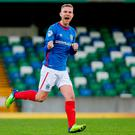 Big finish: Linfield ace Andy Mitchell is keen for a strong end to the season to secure a place in Europe