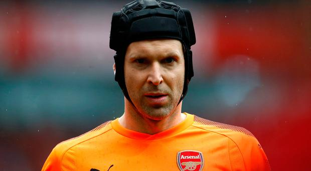 Clear goal: Arsenal's Petr Cech