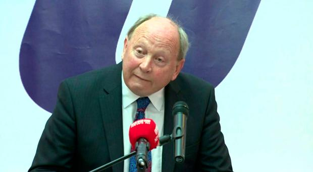 Jim Allister addresses his party's conference