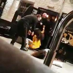 Footage of the incident involving three women in an altercation with door staff at Kelly's Cellars has been posted online