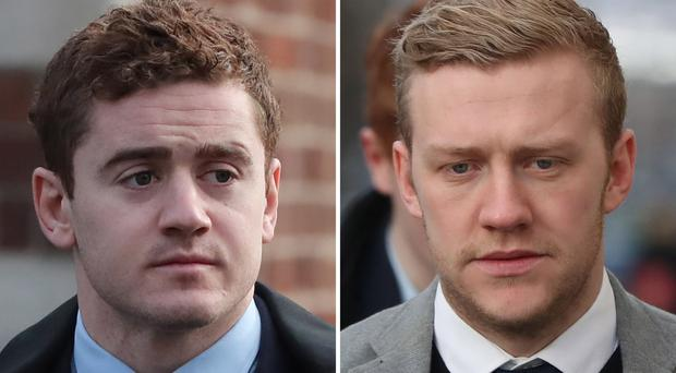File photos of Paddy Jackson and Stuart Olding (Niall Carson/PA)