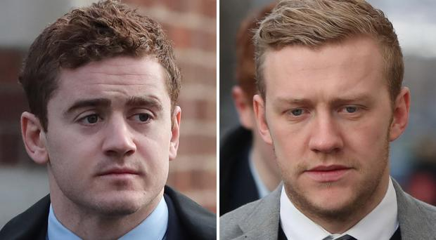 Paddy Jackson and Stuart Olding were acquitted of rape (Niall Carson/PA)
