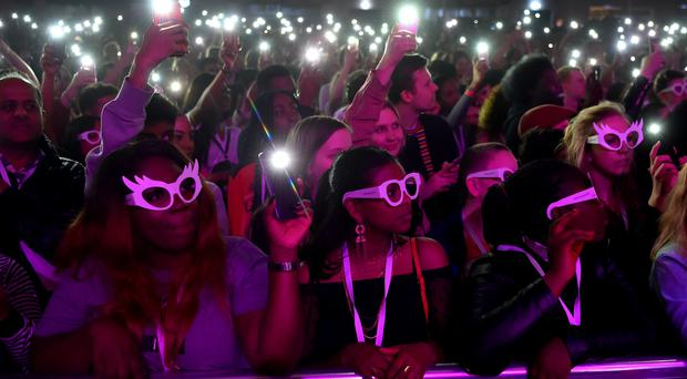 The crowd at the Global Citizen Live event at the 02 Brixton Academy (Matt Crossick/PA)
