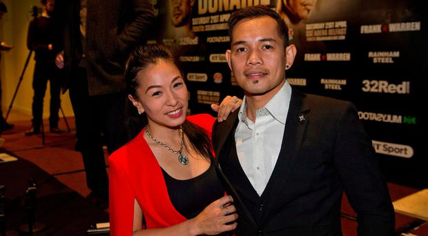 Nonito Donaire and his wife