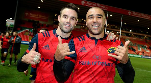 Star quality: Munster's Conor Murray (left) and Simon Zebo are determined to grab their chance of European success