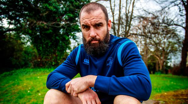 Wants success: Leinster's Scott Fardy at UCD this week ahead of the European Cup semi-final