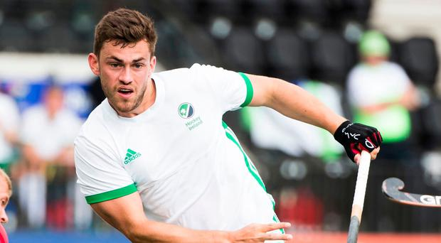 Ireland's Matthew Bell playing against Poland during the EuroHockey Championships in 2017, but yet Northern Ireland could not enter a team in this year's Commonwealth Games