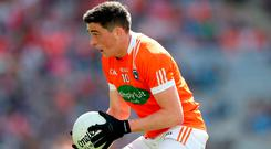Major doubt: Rory Grugan faces a race against the clock to be ready for the Fermanagh tie