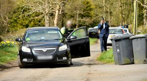 Police at the scene of light air craft crash with reports of two people died at the scene. Pic: Stephen Hamilton/Presseye
