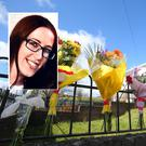 Flowers on the Ballysillan Road in north Belfast where Lisa Gow died. Picture by Jonathan Porter/PressEye