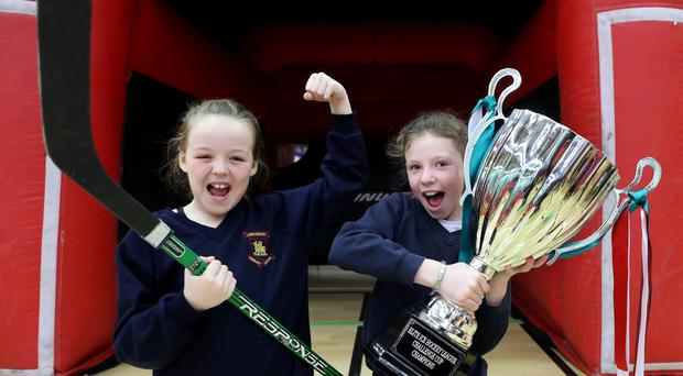 Over 1,400 school children from local primary and secondary schools take part in over 35 demonstration sports during the Department for Communities annual Celebration of Sport event at Bangor Aurora Leisure complex today / Credit: William Cherry/Presseye