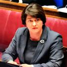Tough week: DUP leader Arlene Foster giving evidence to the RHI Inquiry at Stormont